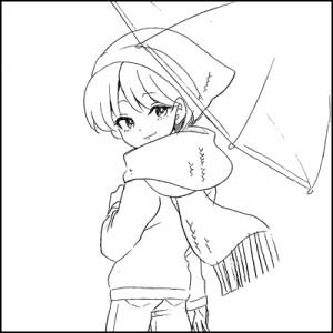 ビニール傘のキャラクター